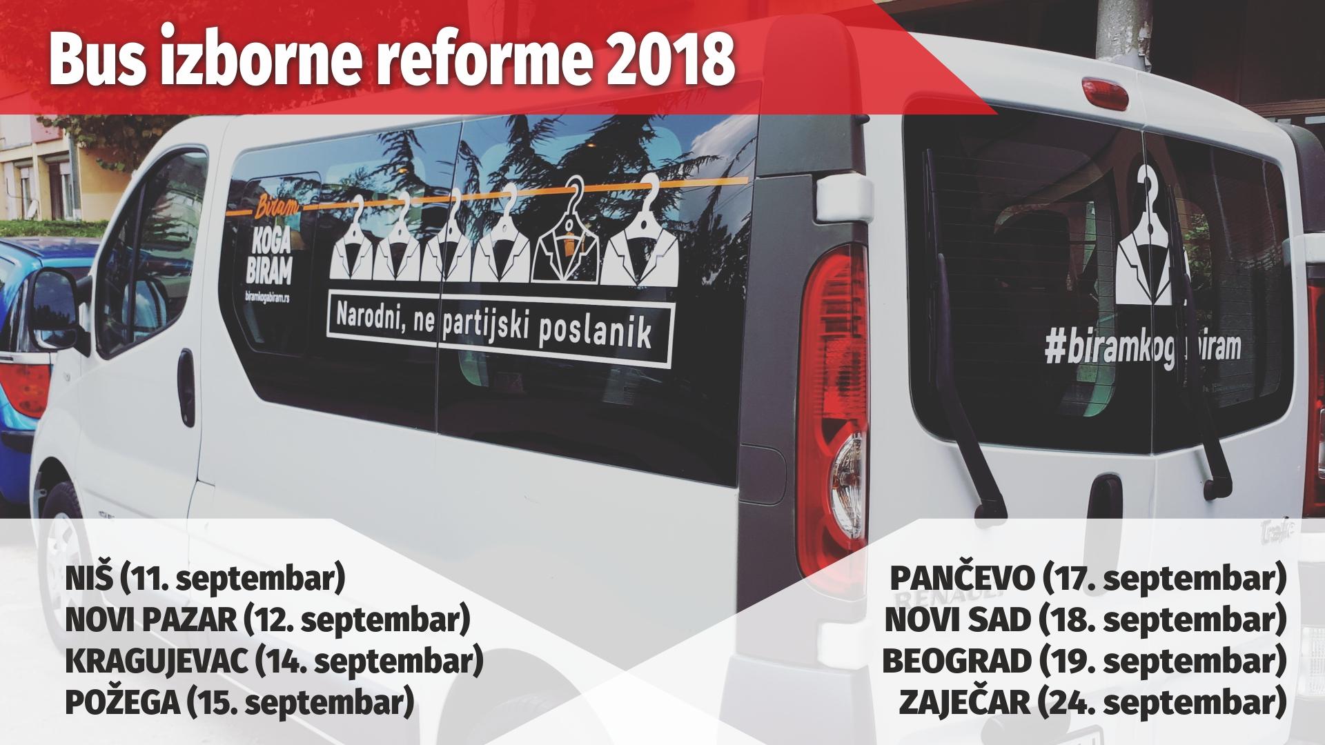 BUS IZBORNE REFORME 2018